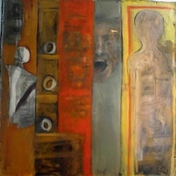 Closed doors. Acrylic on canvas. SOLD